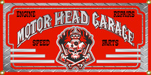 Motor Head Garage Wall Banner