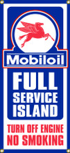 Mobiloil Gas Station Entrance Wall Banner
