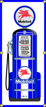 Mobiloil Gas Pump 6 Foot Tall Wall Banner