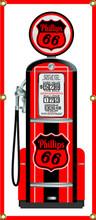 Phillips 66 Gas Pump 6 Foot Tall Wall Banner