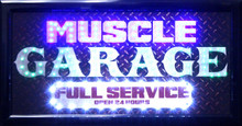 Muscle Garage LED Sign