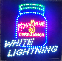 White Lightning Moonshine LED Sign