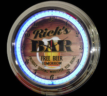 Personalized Bar Beer Neon Clock