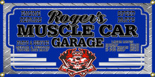 Muscle Car Garage Personalized Wall Banner
