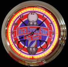 Personalized Barber Shop Neon Clock