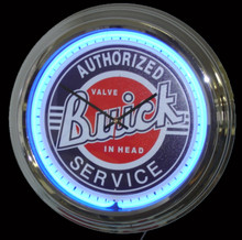 Buick Authorized Service Neon Clock