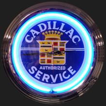 Cadillac Service Neon Clock