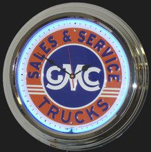 GMC Trucks Sales & Service Neon Clock