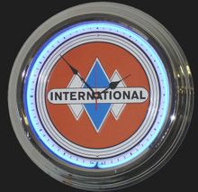 International Trucks Neon Clock
