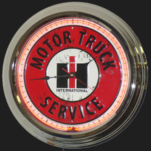 International Harvester Trucks Service Neon Clock