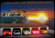 Justification For Higher Education Neon & LED Print