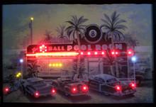 Eight Ball Pool Room Neon & LED Print