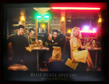 Blue Plate Special Neon & LED Print