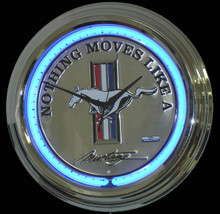Ford Mustang New Style Neon Clock