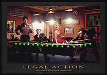 Legal Action LED Print