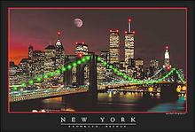 "New York Moon ""Twin Towers"" LED Print"