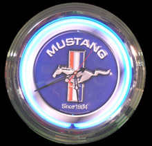 Ford Mustang Since 1964 Neon Clock