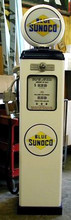 Sunoco Gas 1950's Full Size Erie Gas Pump