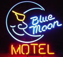 Blue Moon Motel Neon Sign