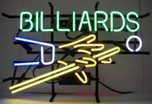 Billards With Cue Stick Neon Sign