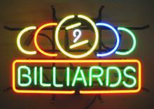 Billards Nikne Nine Ball Neon Sign