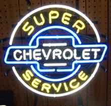 Chevrolet Super Service Service Neon Sign