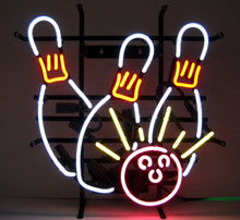 Bowling Ball Strike Neon Sign