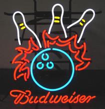 Budweiser Bowling Ball Strike Neon Sign