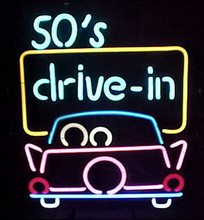 Fifties Drive In Neon Sign