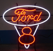 Ford V8 Classic Logo Neon Sign