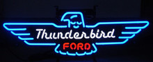 Ford Thunderbird Logo Neon Sign