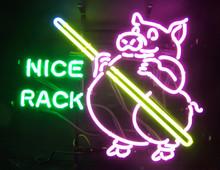 Billards Pool Pig Nice Rack Neon Sign