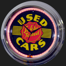 Used Cars Neon Clock