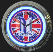 Triumph Auto Parts & Service Neon Clock