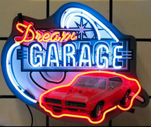 Dream Garage Pontiac GTO Sign Complete With Neon
