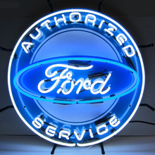 Ford Authorized Service Sign Complete With Neon