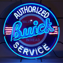 Buick Authorized Service Sign Complete With Neon