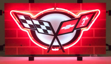 Corvette C6 Logo Sign Complete With Neon