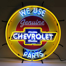 Chevrolet Genuine Parts Sign Complete With Neon