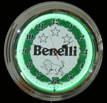 Benelli Motorcycles Neon Clock