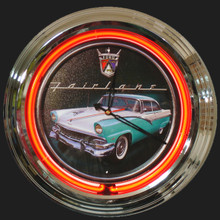 Ford Fairlane Neon Clock