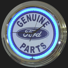 Ford Genuine Parts White Face Neon Clock