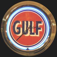 Gulf Oil Neon Clock