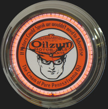 Oilzum Oil Neon Clock