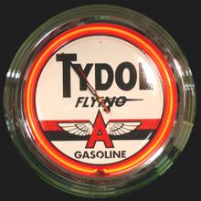 Tydol Flying A  Gasoline Neon Clock