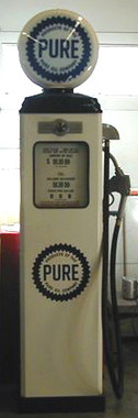 Pure Oil 1950 S Full Size Erie Gas Pump Crusin The Past