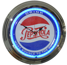 "Pepsi Cola ""More Bounce To The Ounce"" Neon Clock"