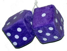 Purple Fuzzy Dice