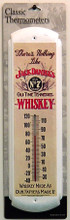 Jack Dainels Old Time Whisky Thermometer