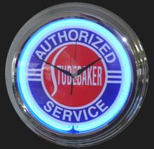 Studebaker Authorized Service Neon Clock